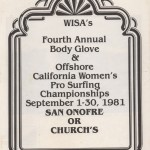 Body Glove Pro Program 1981